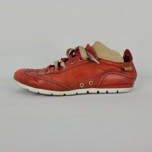 Arnold Churgin Red Leather Sneakers Size 7